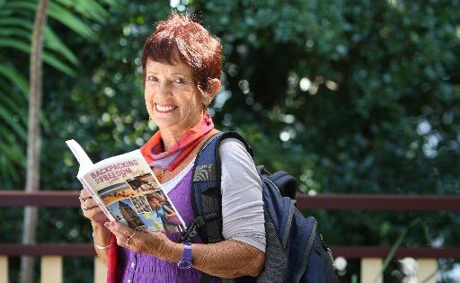 Woombye's Maggie Counihan is the self published author of Backpacking to Freedom-Solo at Sixty. She will talk about her adventures at Pokakai in nambour on May 13