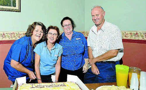 Nurses Del McIvor, Joy Barber, Jenny Butcher and Scott Rhodes.