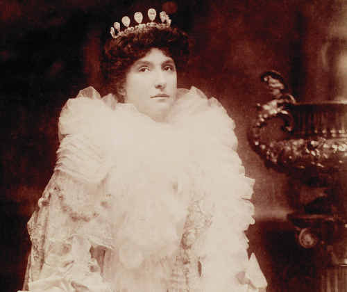 Dame Nellie Melba in 1903, at the height of her singing career. As a young woman she lived in Marian in what is now Melba House.