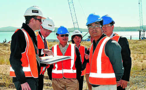 IT'S A GAS: A delegation from China National Petroleum Corporation yesterday inspected Fisherman's Landing.