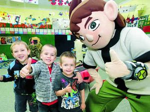 Ben 10's visit treat for kids