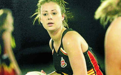 RGS centre Ella Lawrie had a great game despite her side's eight-goal loss to Frenchville Brumbies on Wednesday night.