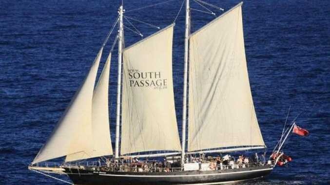 THE South Passage, a 30-metre schooner resembling nineteenth century pilot ships, will return to Rosslyn Bay on Sunday, May 29, to take 50 people on a day sail across the waters inside Fraser Island.