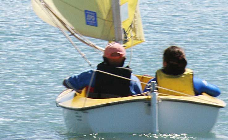 SMOOTH SAILING: Sailability Whitsundays volunteer Allan McCarragher took Compass sailor Jessica Collingwood out for a sail last Tuesday afternoon.