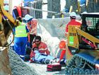 A sub-contractor has been injured at the Banora Point Pacific Highway Upgrade.