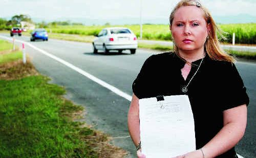 Michelle Leeson has been collecting signatures for a petition to fix the Bruce Highway, which will be taken to state parliament by Ted Malone.