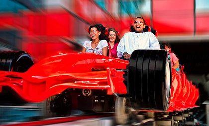 Riding Abu Dhabi's Formula Rossa roller-coaster.