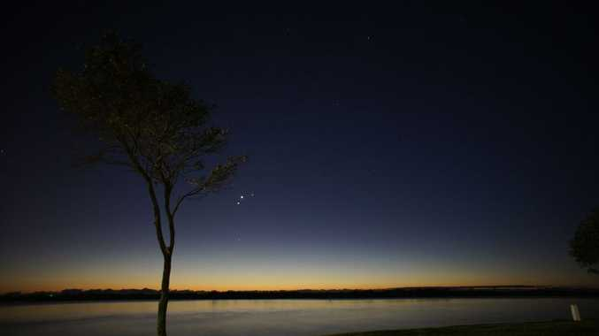Venus, Mercury and Jupiter align over Picnic Point in Maroochydore.