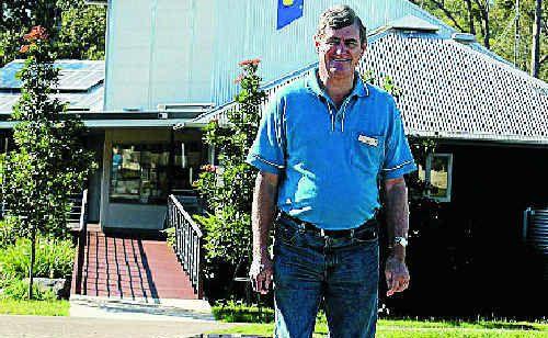 Information centre volunteer Leo O'Mara looks forward to the Glasshouse main street beautification.