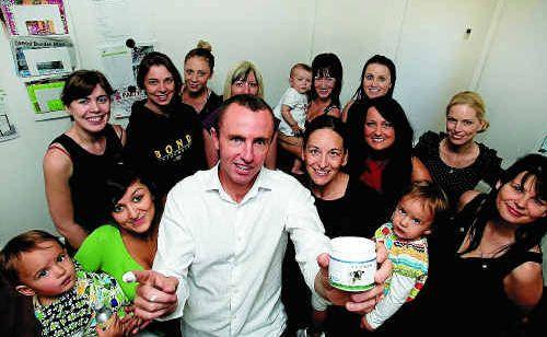 Craig Jones and his team of workers at Moogoo Skin Care.