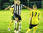 Adam Wratten leads the Berserker players a merry dance in Saturday's match at Pilbeam Park.