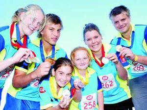 Athletes bring home bag of medals