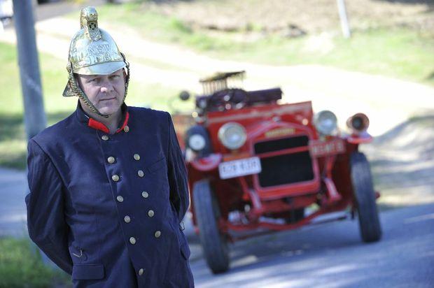 Michael Watson's 1922 Garford fire truck.