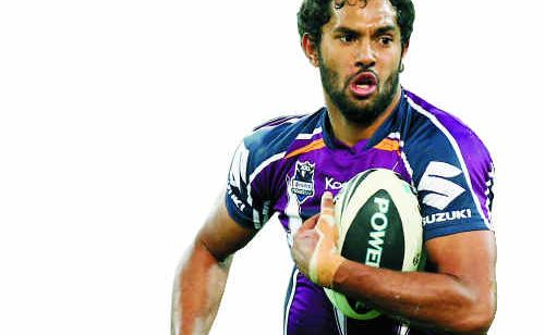 Dane Nielsen, in action for the Melbourne Storm against Canberra Raiders, is now ready to take on the Blues.