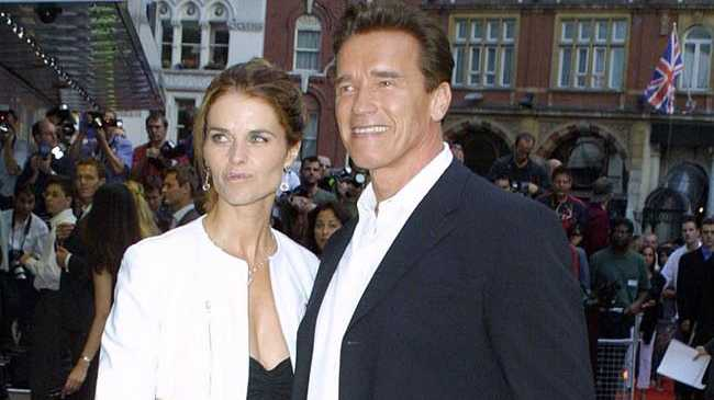Arnold Schwarzenegger and Maria Shriver during happier times.