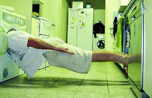 One planker chooses whitegoods as his platform.