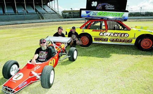 Tony Saunders, Ricky Saunders and Damien Arnold are geared up for the Formula 500 at Rockhampton this weekend.