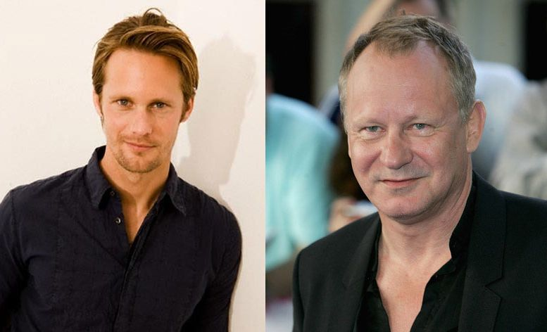 Alexander Skarsgard (left) jokes his father, Stellan Skarsgard (right), is 'over the hill'.