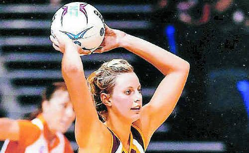 Firebirds goal keeper Laura Geitz pictured in action during the ANZ Championships.