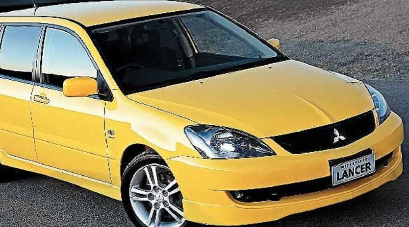 The 2005 Mitsubishi Lancer VRX wagon.