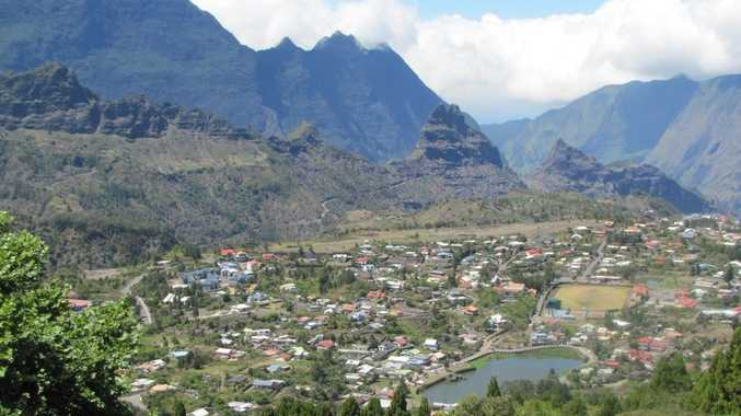 "Cilaos, meaning ""place you never leave"", sits 1200m above sea level in the middle of Reunion Island."