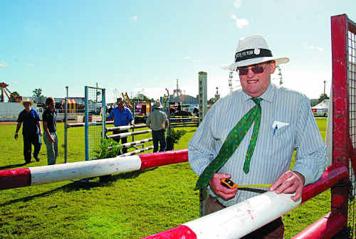 New Zealand showjumping course designer Kevin Hansen has come to Gympie for the first time. He is designing a technical Grand Prix Course.