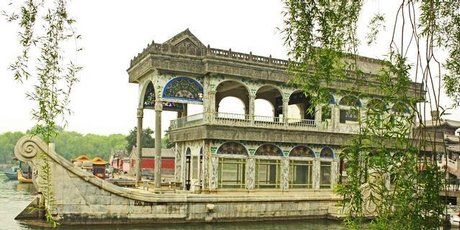 The unsinkable marble boat at the Summer Palace.