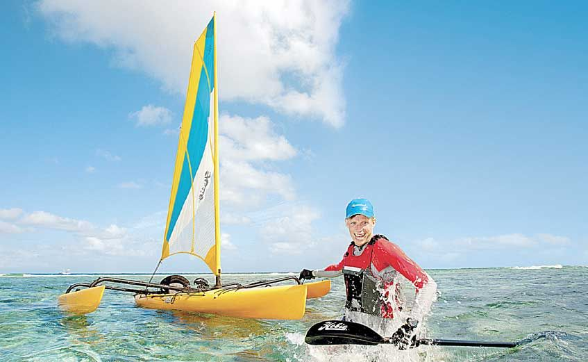 KEEN KAYAKER: Best Job in the World's Ben Southall is at again. This time he will be kyaking from 1770 to Cooktown, re-tracing the route of Captain James Cook. Photo: Tourism Queensland.