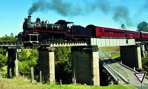 Gympie's major heritage tourist attraction the Mary Valley Rattler.