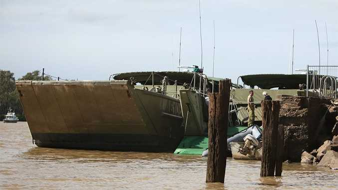 The military says it won't be docking at the Sand Wharf during a military exercise next month because the wharf is too run down.