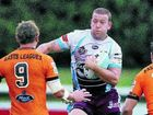 The Cutters' Darren Griffiths takes on the Easts Tigers defence at Langlands Park.