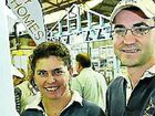 Rebecca and Charlie Ryan pick up a few home decorating ideas at the Toowoomba Autumn Home Show.