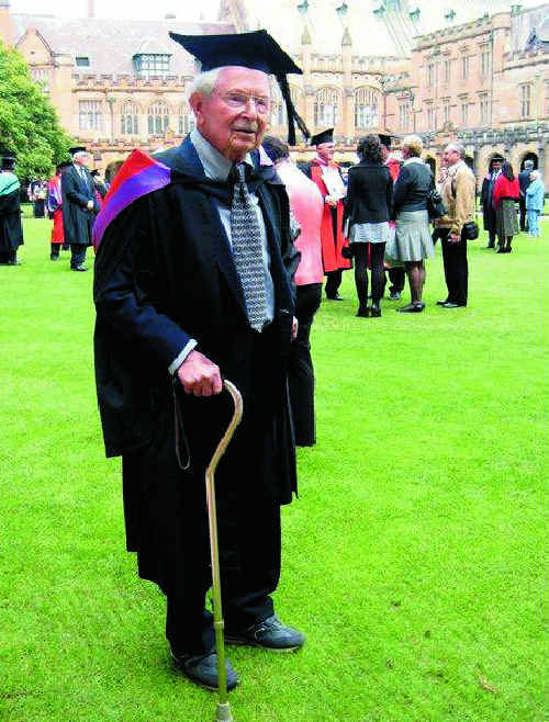 After nearly 70 years Dr Harry Segal has officially graduated from Sydney University
