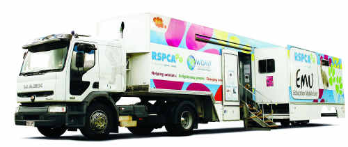 The RSPCA's flagship Education Mobile Unit, or EMU for short, will be in the Central Highlands for five days.