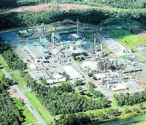 Aerial photo of Gladstone's Orica facility. Photo: Chrissy Harris