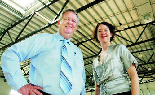 Mayor Brad Carter and MP Kirsten Livermore pictured at a funding announcement in 2009 when they were still friends.