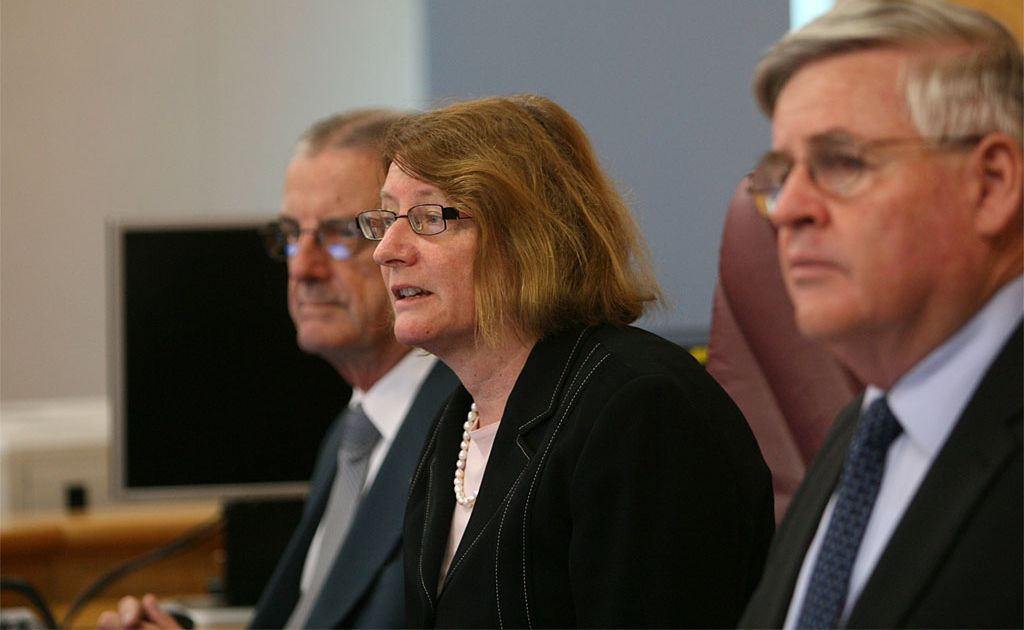 Catherine Holmes at the Queensland Floods Commission of Inquiry in 2011.
