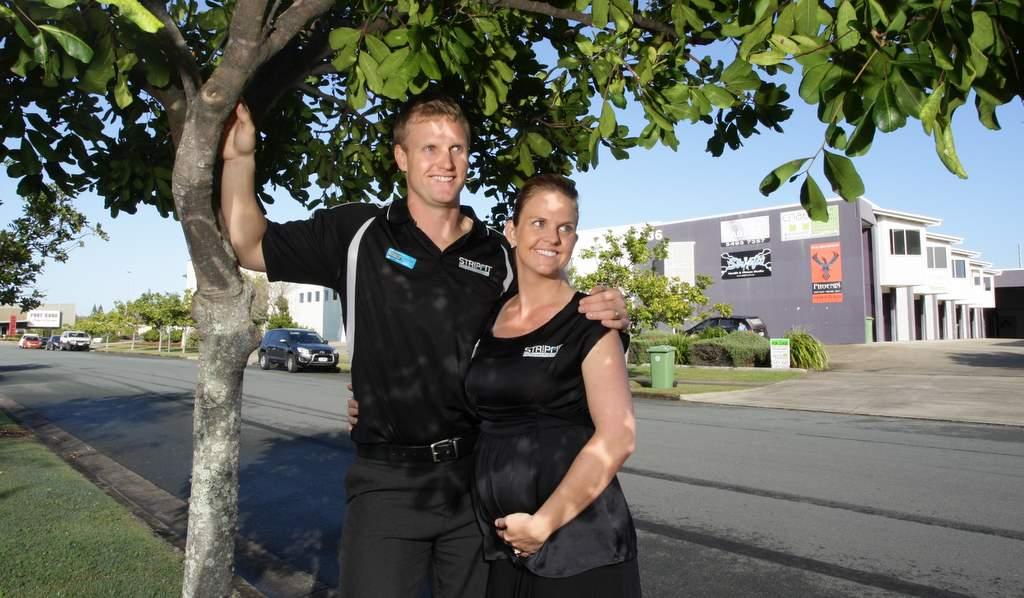 Owners of Stripfit Kawana Sharny and Juluis Kieser. Photo: Cade Mooney / Sunshine Coast Daily
