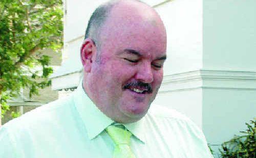 Whitsunday Mayor Mike Bruker outside Bowen Magistrate's Court on Tuesday.