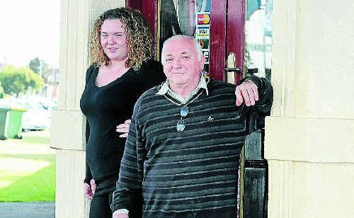 Georgia Wallace and grandfather Kev Wallace are celebrating Warwick's 150 years this week at O'Mahony's Hotel.
