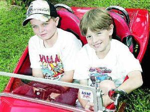 Family builds car for show