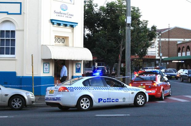 The Southern Cross Credit Union in Murwillumbah was held up on Monday.