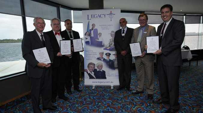 Far North Coast Legacy Ambassadors (from left) Cr Charlie Cox, John Kenny, Neil Tobitt, FNC Legacy president Bruce Llewellyn, Warwick Prentice and Graham Broadhead.