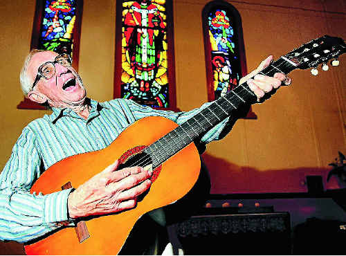 Church convenor Ron Pyle is set to rock on at St Peter's Anglican church when the festival rolls into town from this weekend. Photo: John Gass TWE010611church