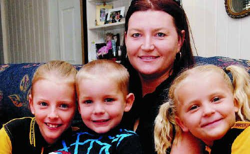 Melinda Sanderson is in charge of her household budget, which includes paying all the bills and also for sport, dance and music lessons for her children Jean, Darcy and Alice.