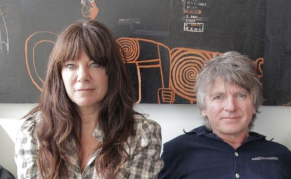 Neil and Sharon Finn debut The Pajama Club in Byron Bay.