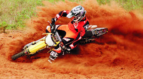 Hay Point motocross rider Will Rasmussen in action on his bike. The young rider died from injuries suffered during a competition accident at Middlemount.