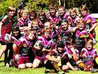 Coolum Colts U12s celebrate their 46-10 win over Beachmere.