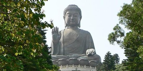 Lantau Island features one of the world's biggest Buddhas.
