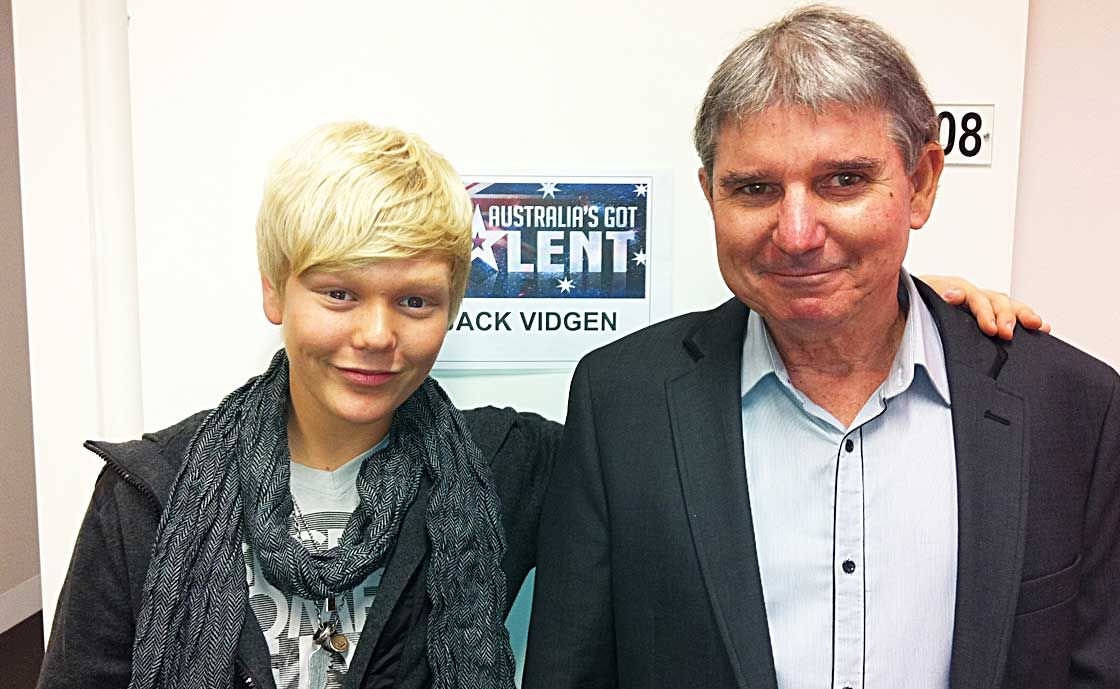 SINGING SENSATION: In Melbourne for the semi-finals of Australia's Got Talent last weekend were 14-year-old Jack Vidgen who is a contestant on the show and his dad Steve Vidgen from Proserpine.